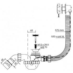 Фото 1 Сифон для ванны автомат McALPINE HC-31SI