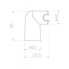 Фото 1 Точечный крепеж для лейки Imprese S013 настенный, с регул.