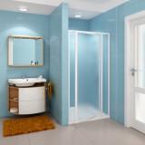 Фото Душевая дверь Ravak SDOP - 100 см. Профиль - белый. Витраж - стекло (Grape)