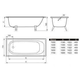 Фото 1 Ванна стальная Estap Deluxe 170 с ручками