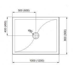 Фото 1 201-06940 Поддон литой мрамор Aquaform Versus 120х90