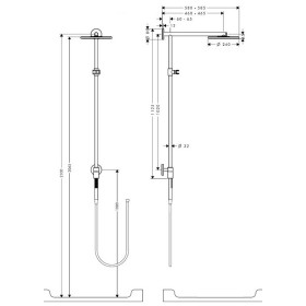 Фото 3 Душевая система Hansgrohe Raindance Connect 240 Showerpipe С кронштейном 460мм (27164000)