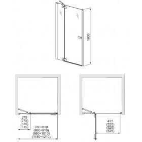 Фото 4 103-09404 Душевая дверь в нишу Aquaform VERRA LINE 80 правая, DP Active