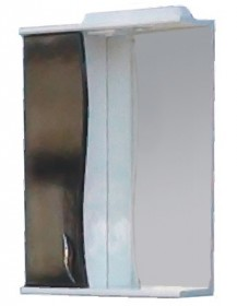 Фото Зеркало со шкафчиком Э-1 55 левый (черный)