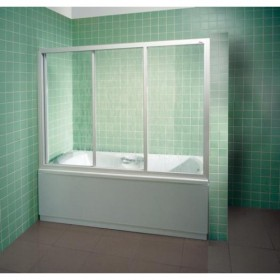 Фото 3 Штора на ванну Ravak AVDP3 - 170. Каркас - белый. Витраж - полистирол (Rain)