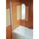 Фото Штора на ванну Ravak EVS1-75 правая. Каркас - белый. Витраж - стекло (Transparent)