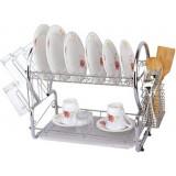 Фото Сушилка для посуды с поддоном Kamille 0768