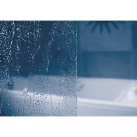 Фото 1 Штора на ванну VSK2 - Rosa II 150R правая. Каркас - белый. Витраж - полистирол (Rain)
