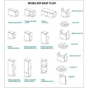 Фото 3 0410-640104 Шкаф навесной Aquaform Flex 60х20