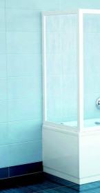 Фото Неподвижная боковая стенка Ravak APSV - 80 к шторе AVDP3. Каркас - белый. Витраж - полистирол (Rain)